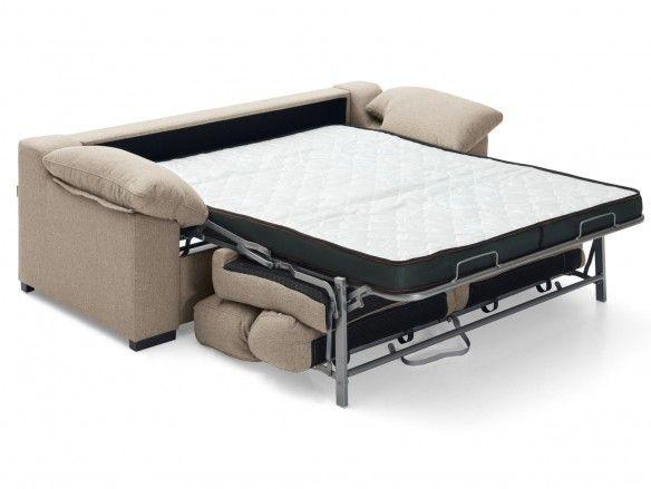 Sofá cama sistema de apertura italiano tapizado beige  merkamueble