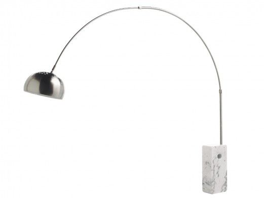 Lámpara de pie curva metal...