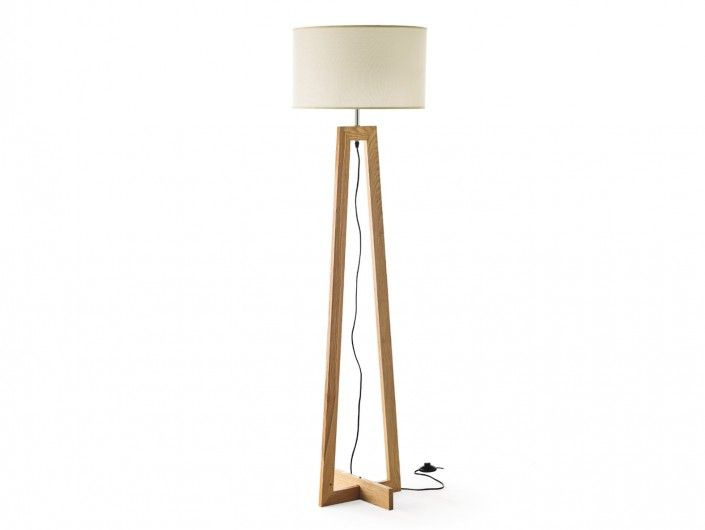 Lámpara de pie madera  merkamueble