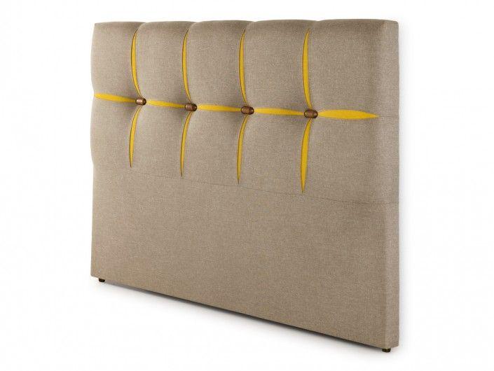 Cabecero tapizado savana taupe  merkamueble
