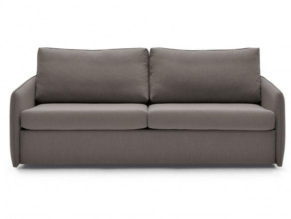 Sofá cama con sistema de apertura extensible tapizado visón  merkamueble