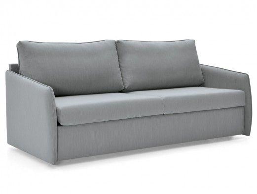 Sofá cama con sistema de apertura extensible tapizado plata  merkamueble