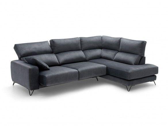 Rinconera con asientos deslizantes tapizado gris oscuro  merkamueble