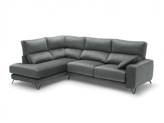Rinconera con asientos deslizantes tapizado gris  merkamueble
