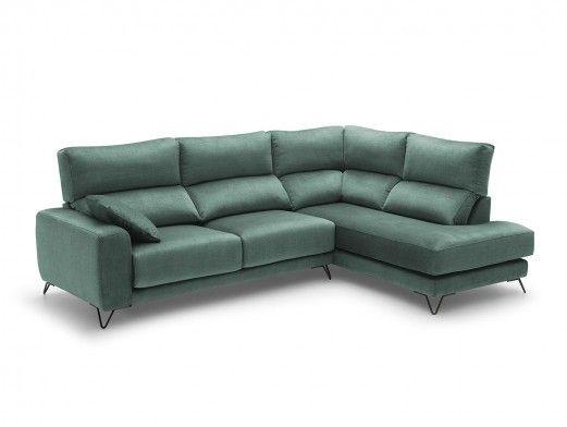 Rinconera con asientos deslizantes tapizado verde jade  merkamueble