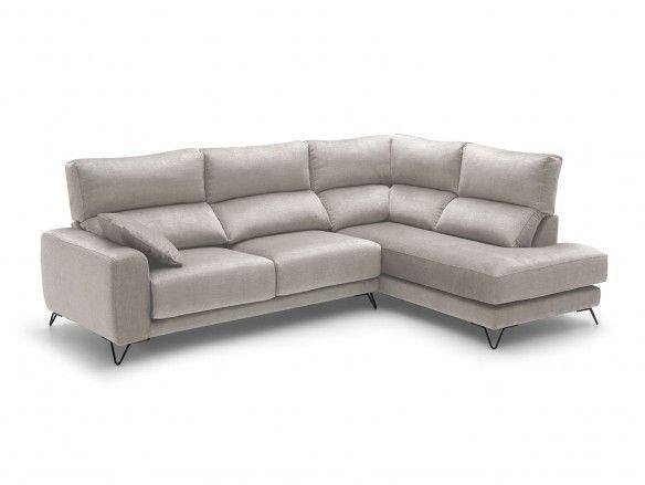 Rinconera con asientos deslizantes tapizado beige  merkamueble