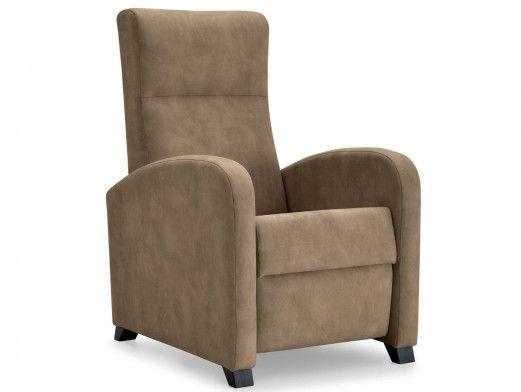 Sillón relax tapizado color marrón  merkamueble