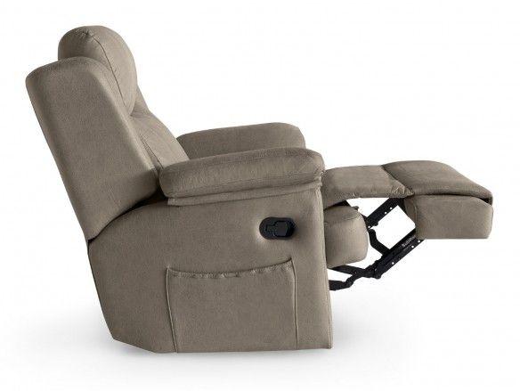 Sillón relax tapizado color marrón claro  merkamueble