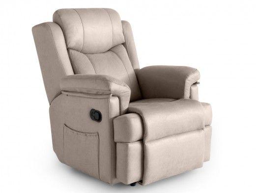 Sillón relax tapizado color beige  merkamueble