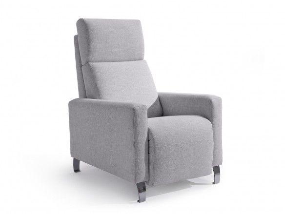 Sillón relax tapizado color gris  merkamueble