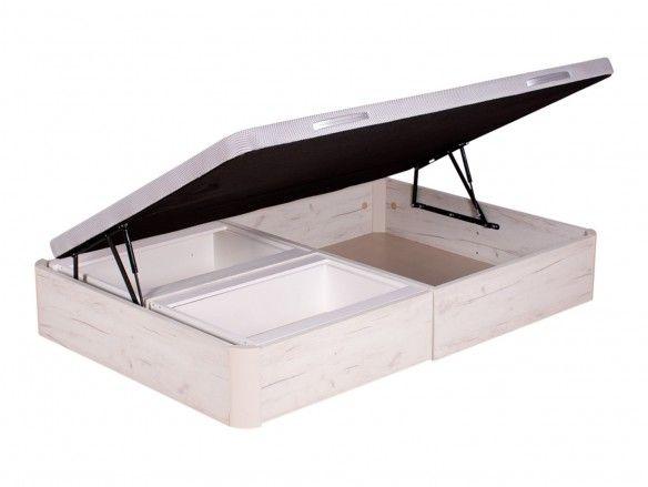 Canapé abatible con cajones y apertura lateral color ártico  merkamueble