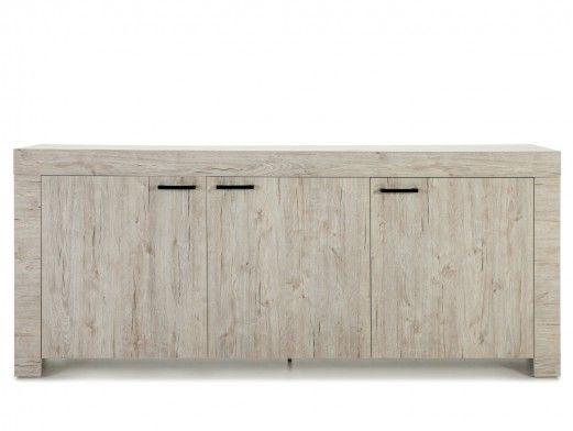 Aparador de 3 puertas color madera claro  merkamueble