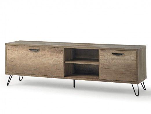 Mueble TV de 2 puertas color madera  merkamueble