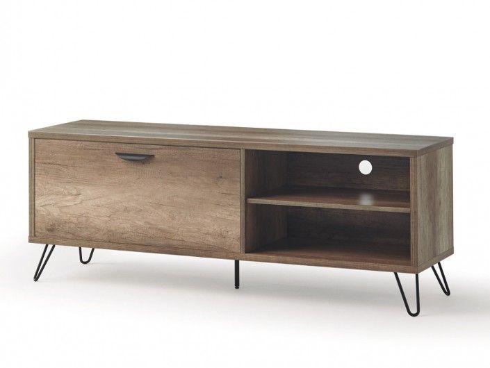 Mueble TV de 1 puerta color madera  merkamueble