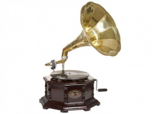 Gramófono octogonal latón  merkamueble