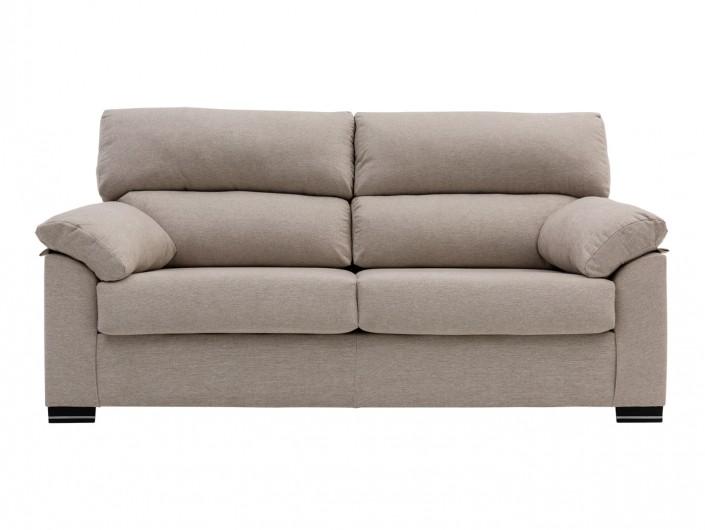 Sofá de 2 plazas tapizado beige  merkamueble
