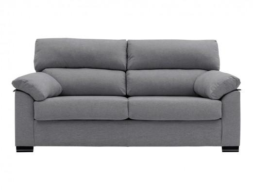 Sofá de 3 plazas tapizado gris  merkamueble