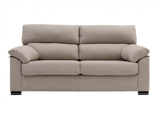 Sofá de 3 plazas tapizado beige  merkamueble
