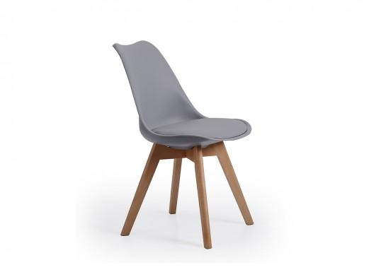 Pack 4 sillas nórdicas color gris  merkamueble
