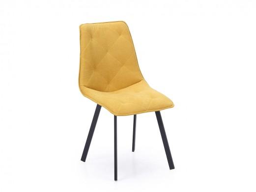 Pack 2 sillas de comedor vintage con costuras decorativas tapizadas color mostaza  merkamueble