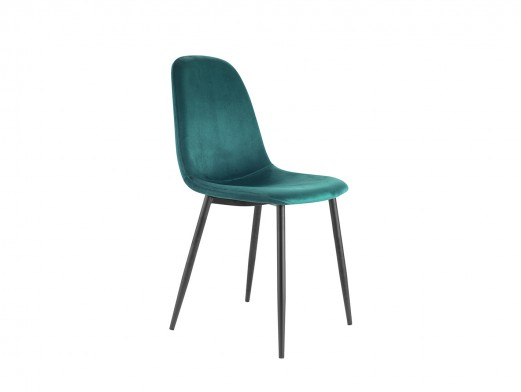 Pack 4 sillas de comedor estilo nórdico tapizado velvet verde  merkamueble