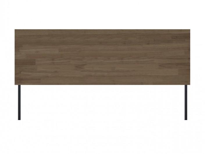 Cabecero cama 160 diseño industrial de madera de roble americano y patas metálicas  merkamueble