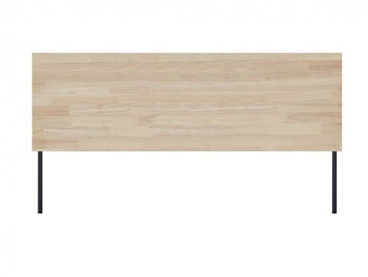 Cabecero cama 160 diseño industrial de madera de roble nordish y patas metálicas  merkamueble