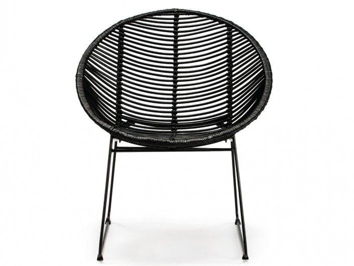 Silla de comedor color negro y patas metálicas  merkamueble