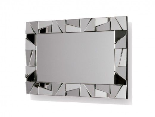 Espejo rectangular color plata