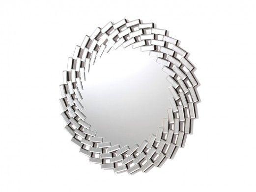 Espejo redondo de cristal