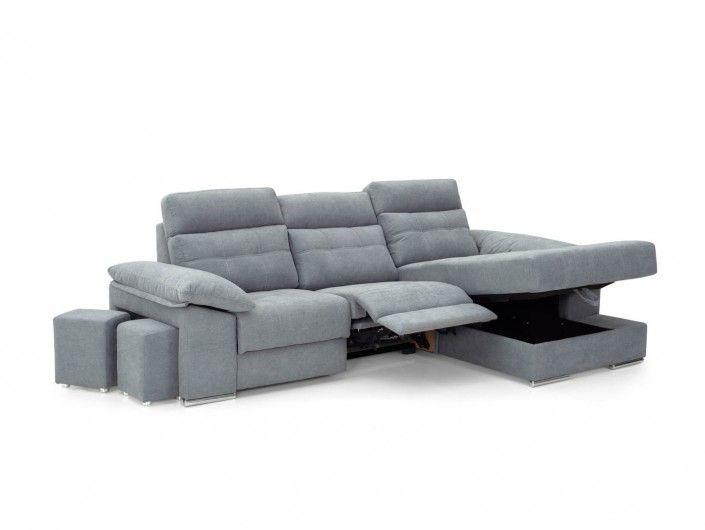 Chaise longue eléctrica tapizado gris oscuro  merkamueble