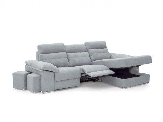 Chaise longue eléctrica tapizado gris  merkamueble