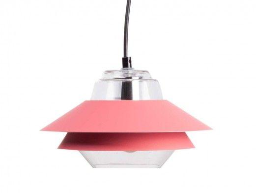 Lámpara de techo metálica/cristal  merkamueble