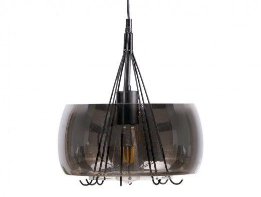 Lámpara de techo metal/cristal  merkamueble