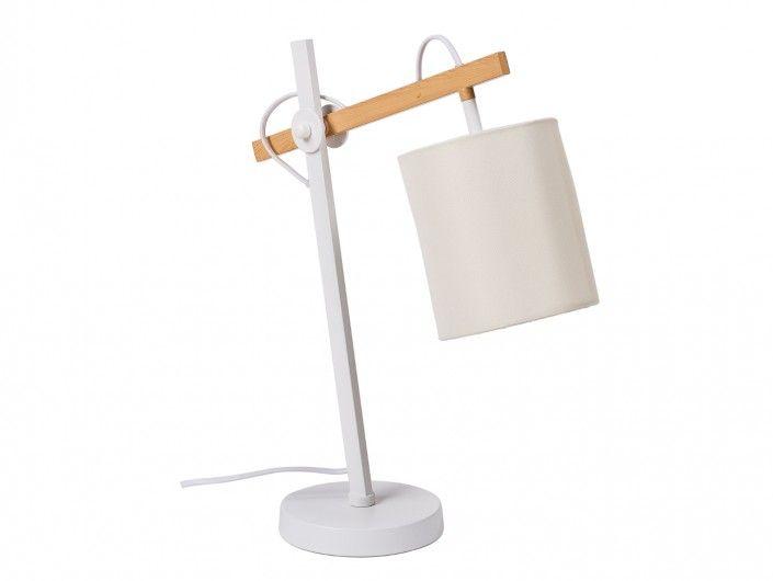 Lámpara de sobremesa metálica/madera  merkamueble