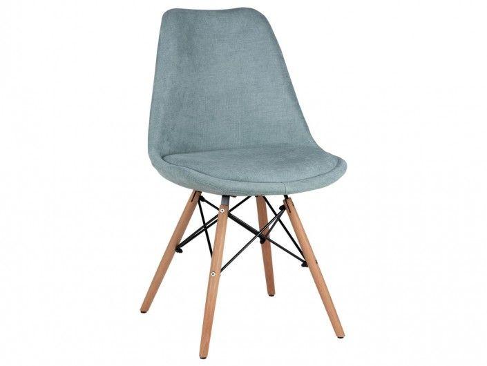 Pack 4 sillas de comedor tapizado mint y patas madera  merkamueble