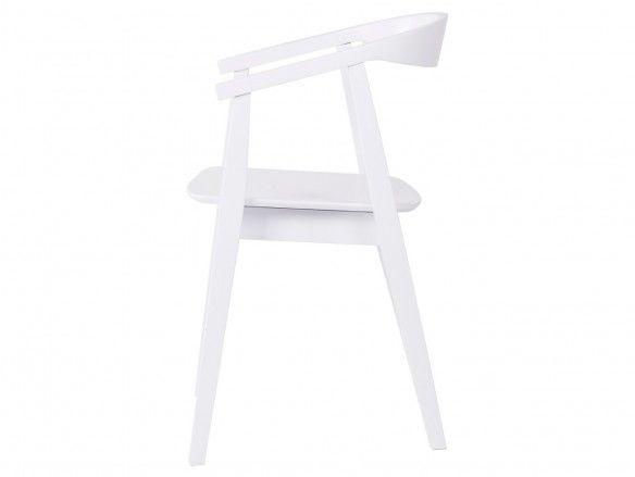 Pack 2 sillas de comedor color blanco y patas madera  merkamueble