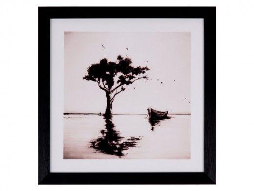 Cuadro árbol color negro