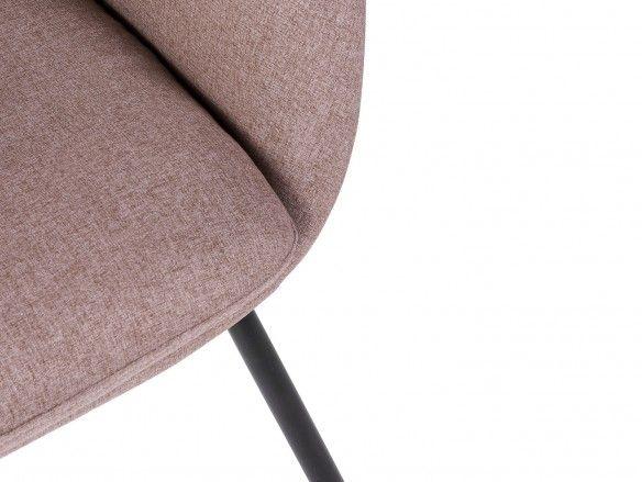 Sillón tapizado beige y patas metálicas  merkamueble