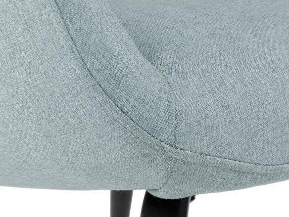 Sillón tapizado menta y patas metálicas  merkamueble
